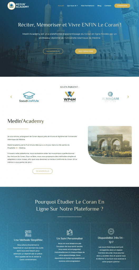 Screen Medinacademy - WP4Muslim